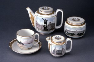 Image 6: Leningrad tea service. Designed by Eva S. Zeisel and Varvara Petrovna Freze, manufactured by Lomonosov Porcelain Factory, 1935