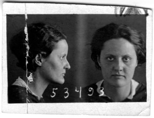 Image 7: Mugshot of Eva Zeisel upon her incarceration at NKVD prison in Russia, 1936.