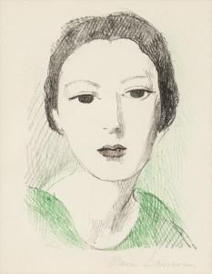 """Image 2: """"Jeune fille de face """"(1937), Marie Laurencin"""